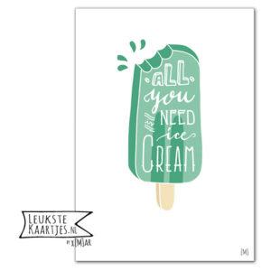 poster ijsje groen