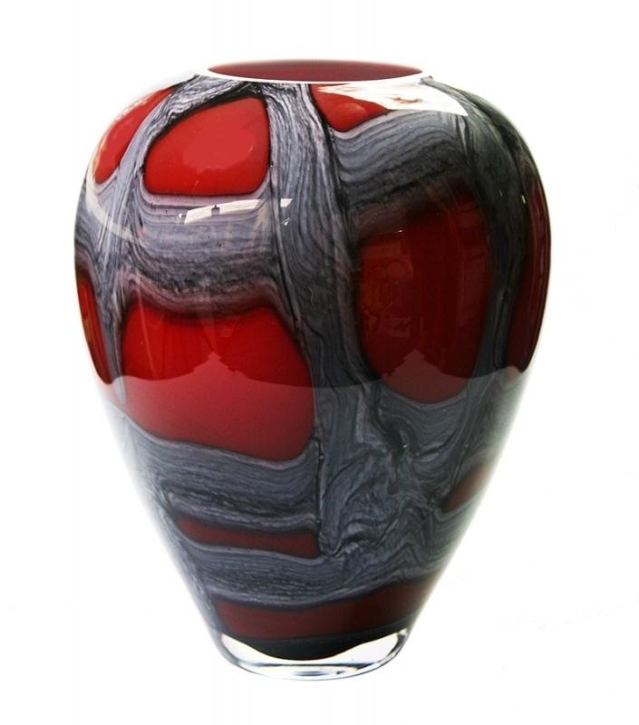 loranto-vaas-rood-grijs